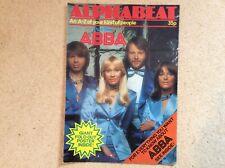 """ALPHABEAT - ABBA"" rare UK poster magazine 1970s"