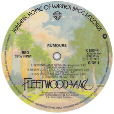 Fleetwood Mac. Rumours. Record label vinyl sticker