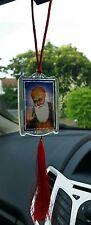 First Sikh Guru Nanak Dev Ji and Khanda Legend Pendant Car Rear Mirror Hanging