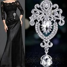 New Bouquet Wedding Bridal Crystal Rhinestone Drop Brooch Pin LKR801