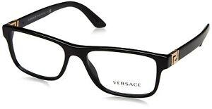 VERSACE MEN EYEGLASSES VE3211 GB1 Black Frame 55-145