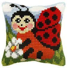 "Ladybird Cushion Cover 10"" x 10"" Cross Stitch Kit"