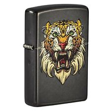 More details for zippo sabretooth tattoo design windproof refillable cigarette smoking lighter