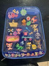 Littlest Pet Shop 10-Pack Pets in Carry Case w/Accessories 2008 Release RARE