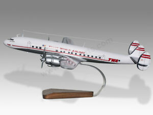 Lockheed L-1049 Super Constellation TWA Handcrafted Solid Wood Display Model