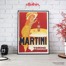 Poster Vintage Martini Torino (M. Dudovich) Stampa Fine Art Manifesto Aperitivo