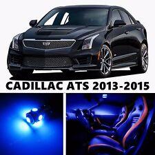 15pcs LED Blue Light Interior Package Kit for CADILLAC ATS 2013-2015