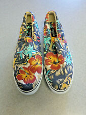 Sperry Top Sider Hawaiian multi-color canvas slide loafers.  Men's 15