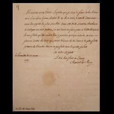 King Poland Stanislaw Signed Royal Document Polish Manuscript Royalty Autograph