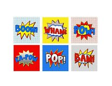 Superhero BOOM POW WHAM Printable Signs/ Labels/ Tags ~ Party Decorations