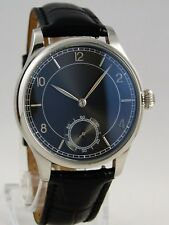 Montre classique mouvement mécanique type UNITAS 6498 BLACK SUNRAY watch