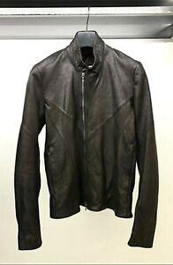 Julius Black Asymmetric Zip Goat Leather Jacket 497BLM22 size 1