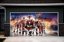 Christmas Santa Decor Garage Door Covers 3d Banners Outside House Billboard GD45