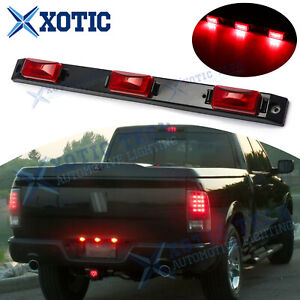 For Dodge Ram 1500 2500 3500 Red Lens 9-LED Rear Tailgate Trunk Tail Light Bar