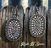 925 Silver Multicolor Gemstone Ear Hook Dangle Drop Oval Cut Earrings Women Gift