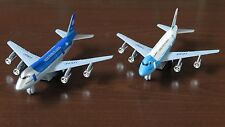 "2 Types Toy Airplane Turbo Jet Diecast Metal w/ Plastic Parts - 7.5"" L New"