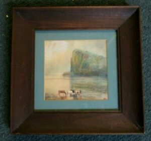 CHARMING ANTIQUE PAINTING W/C OF COWS _ FROM INDIAN HILL ESTATE_SUPER!