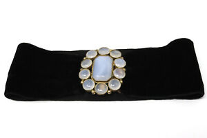 A Nice Antique Georgian Gold Plated Agate Design Clasp Headband? #33739