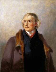 Thomas Sully Thomas Jefferson Poster Reproduction Paintings Giclee Canvas Print
