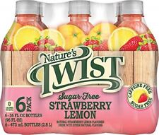 Nature's Twist Sugar Free Strawberry Lemon 16 oz 6 Bottle Pack