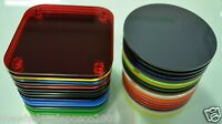 Coasters Kitchen Breakfast Bar Dining / Coffee Table Plastic Perspex Acrylic
