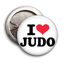 I Love Judo - Button Badge - 25mm 1 inch Humour / Parody Style