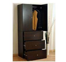 New Varossa's Summit 2 Door Wardrobe Cupboard & Chest of Drawers Storage Cabinet
