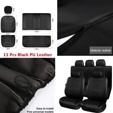 11Pcs/set PU Leather Car Seat Covers Full Set Protector For Interior Accessories