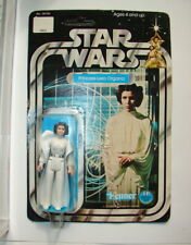 Star Wars Vintage Kenner 12 back Princess Leia Mint figure on Card 1977  320