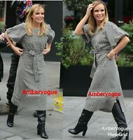 Zara Houndstooth Midi Belted Dress Amanda Holden Size  XS ,S, M, L ,XL