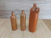 Antique German Stoneware - Gin Bottles / Flasks