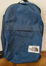 Vintage Brown Label The North Face Nylon Backpack Navy Blue!