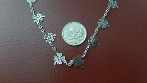 4 Leaf Clover Silver tone Necklace