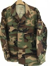 US Army Woodland BDU Jacket Large/short VG Used Condition