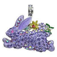 Kirks Folly Run Away Bunny Magnetic Enhancer silvertone / lavender Easter