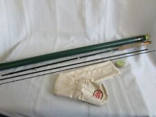 Vtg Rl Winston 9' 6wt 3 Piece Fly Rod #37653 Cigar Handle Zebra Nsdl Green Tube