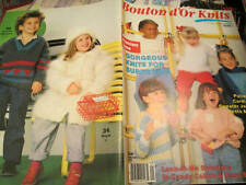 Bouton D'Or Knits Children Knitting Book #1- All 34 Designs Shown-Sizes 4-10 Yrs