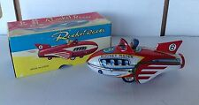 Vintage Rocket Racer Tin #6 Friction with Siren in Original Box