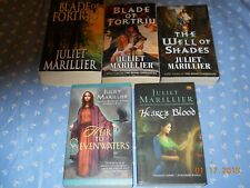 5 JULIET MARILLIER PBs WELL OF SHADES BLADE OF FORTRIU (2) HEART'S BLOOD + HEIR!