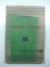 Giuseppe Reale, Conferenze dantesche, Avola, 1909