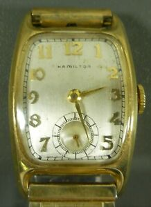 1940's Vintage Hamilton Watch Runs Nice Condition 10k Gold Filled Case