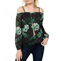 INC NEW Women's Printed Cold-shoulder Blouse Shirt Top TEDO