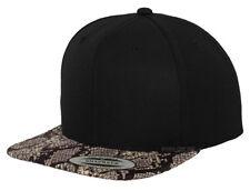 496f2805f6d NEW  LEOPARD  SNAPBACK CAP BLACK PLAIN BASEBALL HIP HOP ERA FITTED FLAT  PEAK HAT