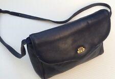 Vintage Navy Blue Etienne Aigner Leather Cross Body Shoulder Bag Purse Handbag