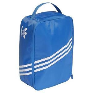 adidas ORIGINALS MEN'S 3-STRIPE RETRO SNEAKER SHOE BAG BLUE TREFOIL CASUAL NEW
