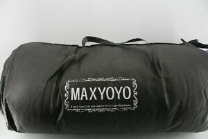 SEE NOTES MAXYOYO Japanese Tatami Foldable Roll Up Full Size Futon Floor Mat