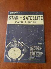 Vintage 1957 Anchor Optical Star and Satellite Path Finder Instruction Manual