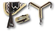D.A. Brand Black/Tan Navajo Bareback Pad w/ Girth/ Breast Collar Full Horse Tack