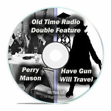 Have Gun Will Travel + Perry Mason, 509 Episodes, Old Time Radio, OTR, DVD F71