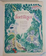 ARNOUX Sortilèges Gravures de JACQUEMIN et DARAGNES 1/10 ex NUM + SUITE 1949